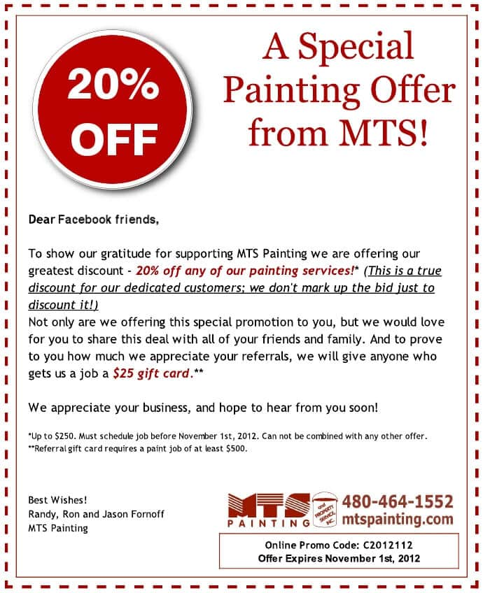 A Special Offer from MTS Painting