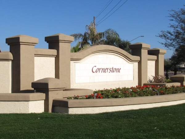 Cornerstone HOA Monument After Picture