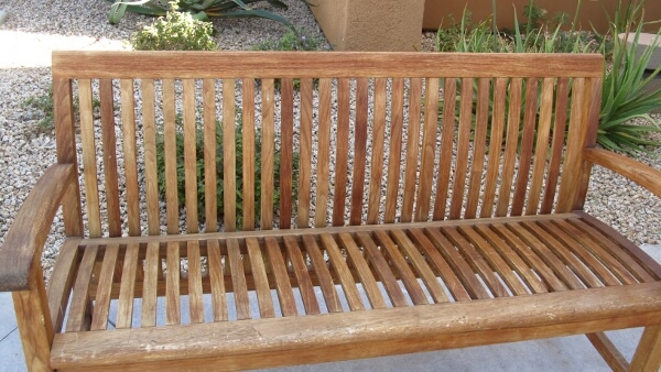 Fireside bench after picture